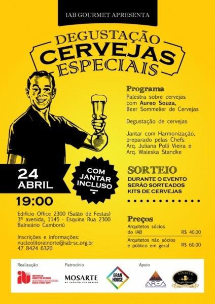 Convite  iab gourmet + degustação de cervejas