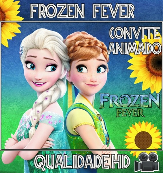 Convite animado em vÍdeo para aniversário   frozen fever no elo7