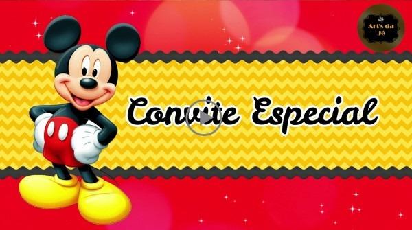 Convite animado mickey mouse (com 4 fotos) no elo7