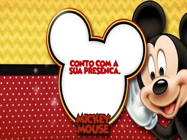 Convite animado e personalizado mickey mouse no elo7