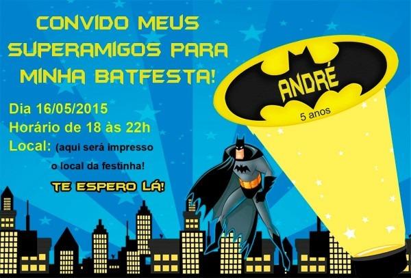 Convite aniversario batman gratis 3 » happy birthday world