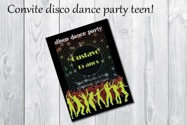 Convite para dancar valsa