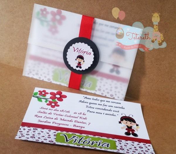 Convite capa papel vegetal no elo7