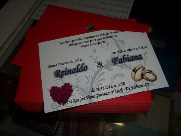 Convite casamento 10x15 no elo7
