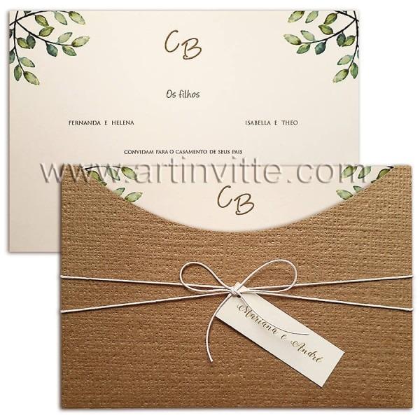 Os mais lindos convites de casamento rústicos para você!