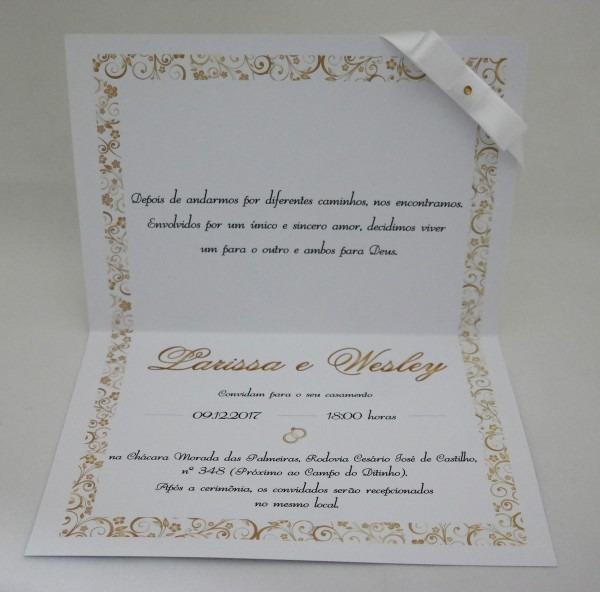 Convite casamento modelo d4