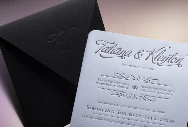 Convite casamento moderno luxo no elo7
