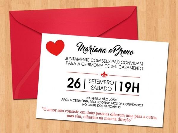 Convite casamento personalizado digital 06
