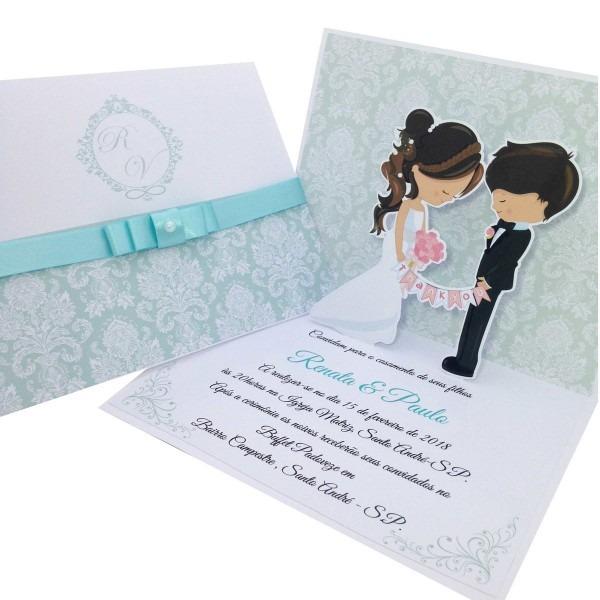 Convite casamento popup 02 no elo7