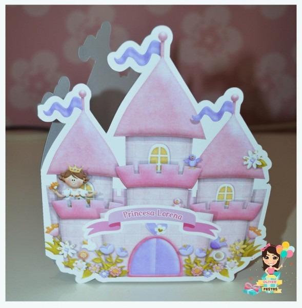 Convite castelo princesa no elo7