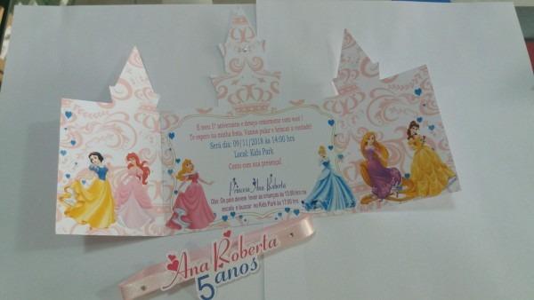 Convite castelo princesas no elo7
