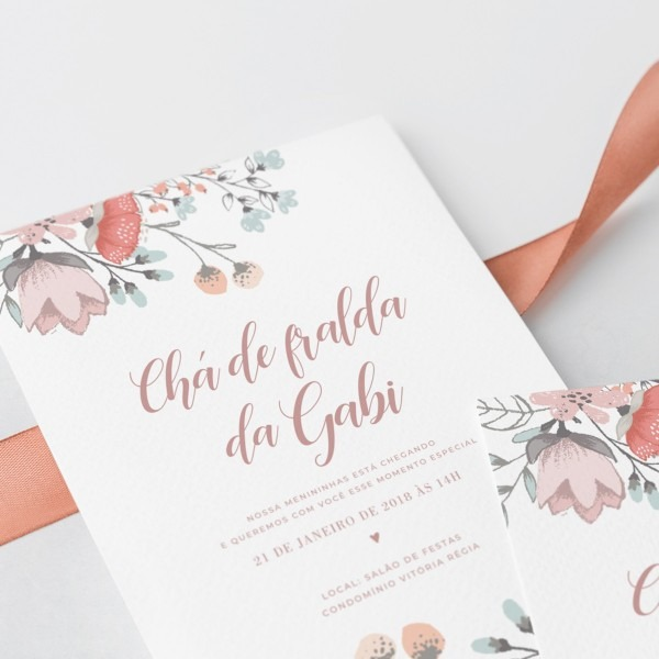 Convite chá de fraldas (virtual + arte para imprimir) no elo7