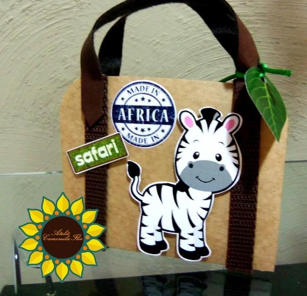 Convite craft safari no elo7