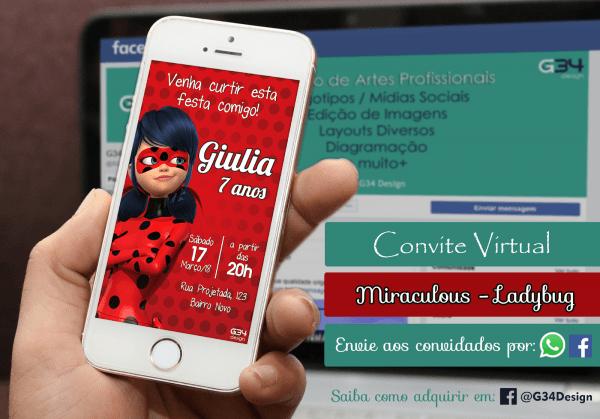 G34 design  convite virtual para whatsapp e facebook