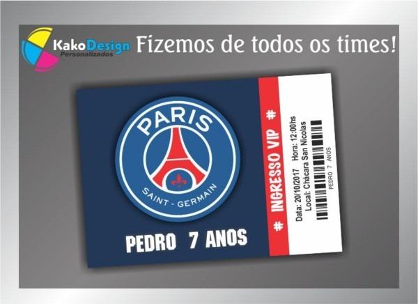 Convite de aniversário paris saint germain no elo7