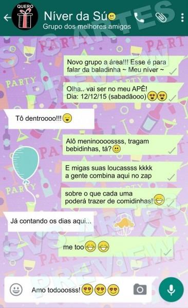 Convite de aniversario pelo zap 2 » happy birthday world