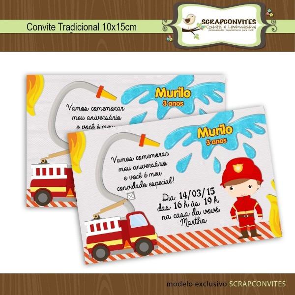 Convite de aniversario tema bombeiro 6 » happy birthday world