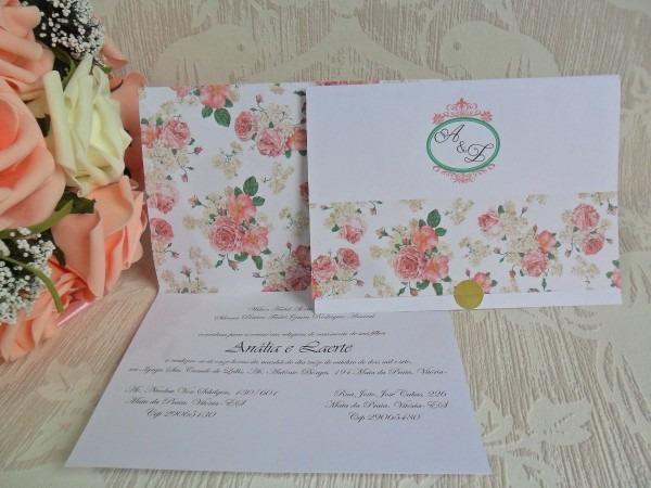 Convite de casamento (130) tamanho 14x20 fechado