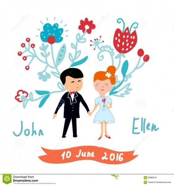 Convite de casamento engra ado imagens cart o do ilustra vetor