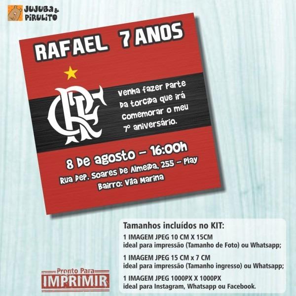 Convite digital aniversÁrio flamengo m1 no elo7