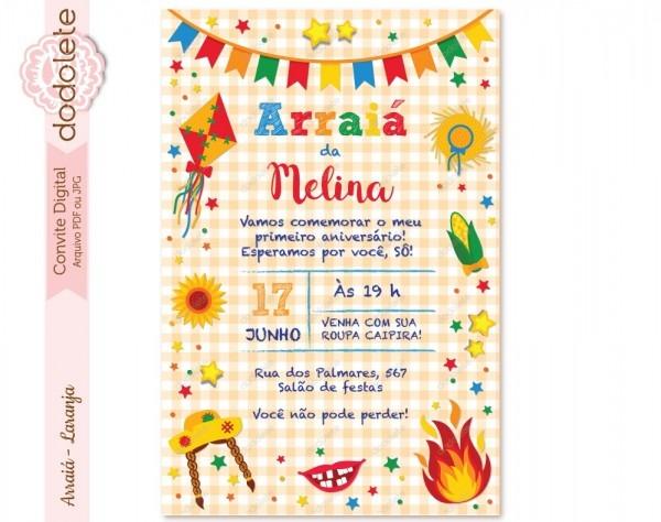Convite digital arraiá