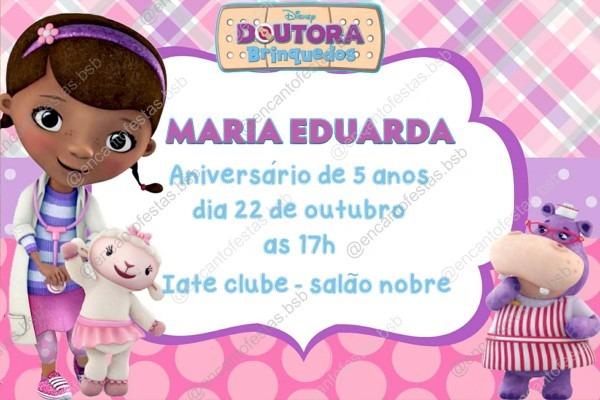 Convite digital doutora brinquedos no elo7