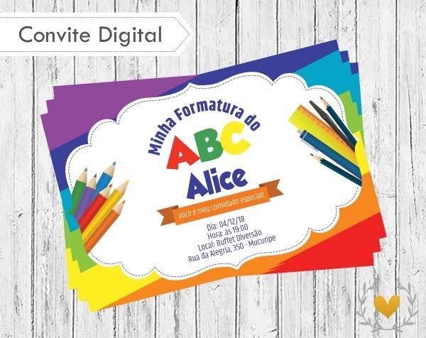 Convite digital formatura do abc no elo7
