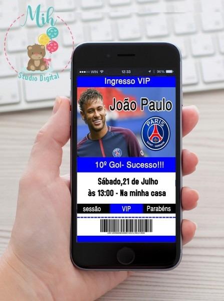 Convite digital futebol paris saint germain psg zap 01