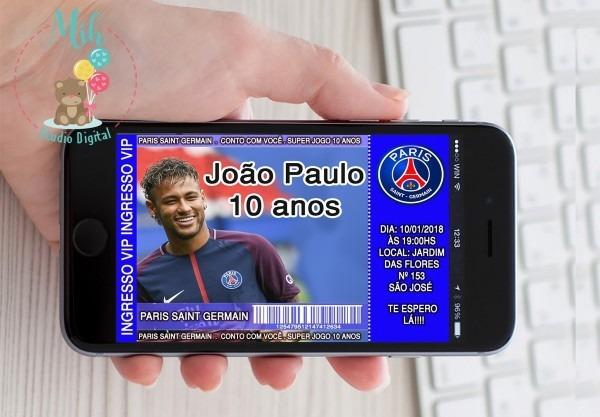 Convite digital futebol paris saint germain psg zap