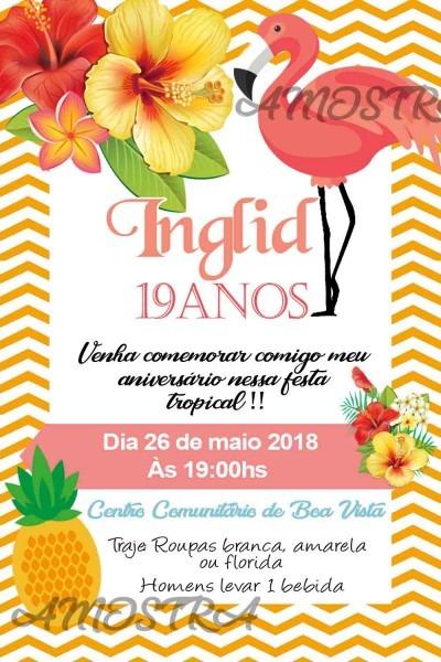 Convite digital havaiana no elo7