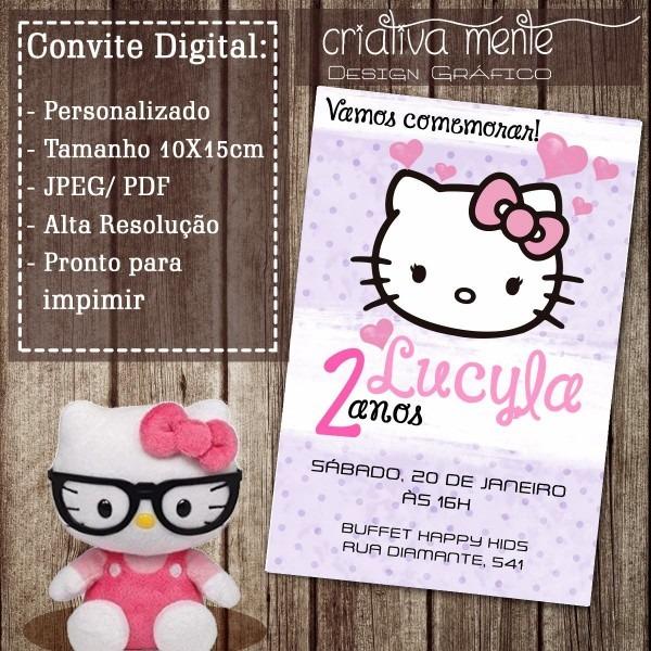 Convite digital hello kitty 01