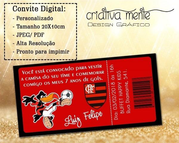 Convite digital ingresso flamengo