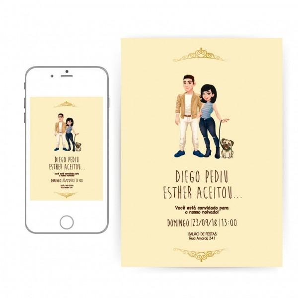 Convites digitais noivos