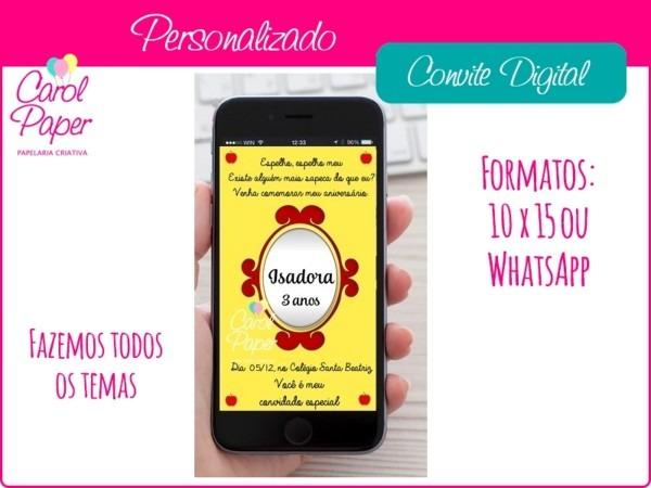 Convite digital para celular no elo7
