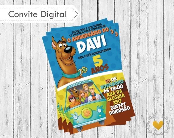 Convite digital scooby doo no elo7