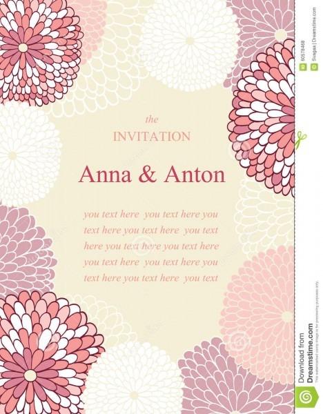 Convite do casamento no tema das flores ilustração stock