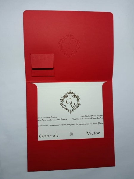 Convite envelope personalizado