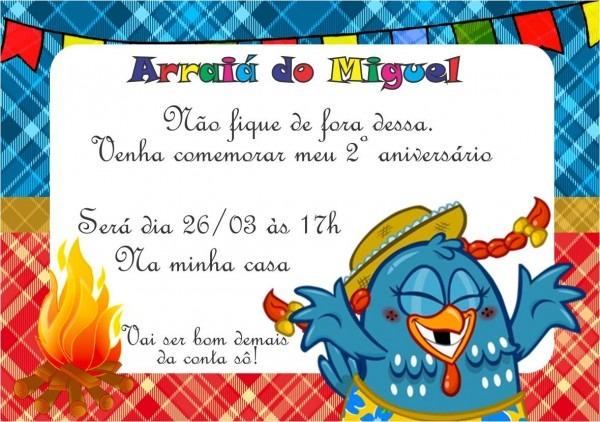 Convite digital festa junina galinha pintadinha no elo7