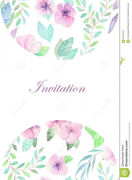Convite floral da aquarela para a celebração, casamento ilustração
