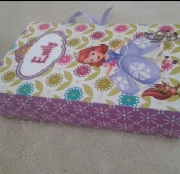 Convite infantil princesa sofia caixa livro (50unid)