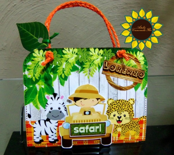 Convite maletinha safari no elo7