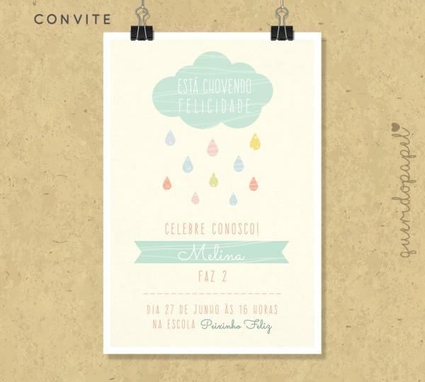 Convite nuvem de amor