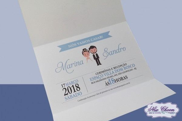 Convite para casamento azul serenity no elo7