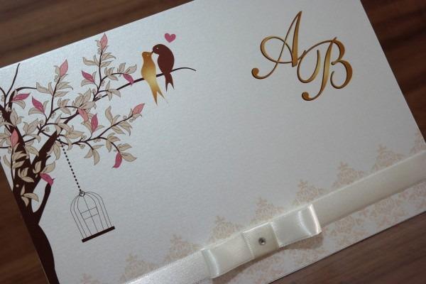 Convite para casamento papel brilhante no elo7