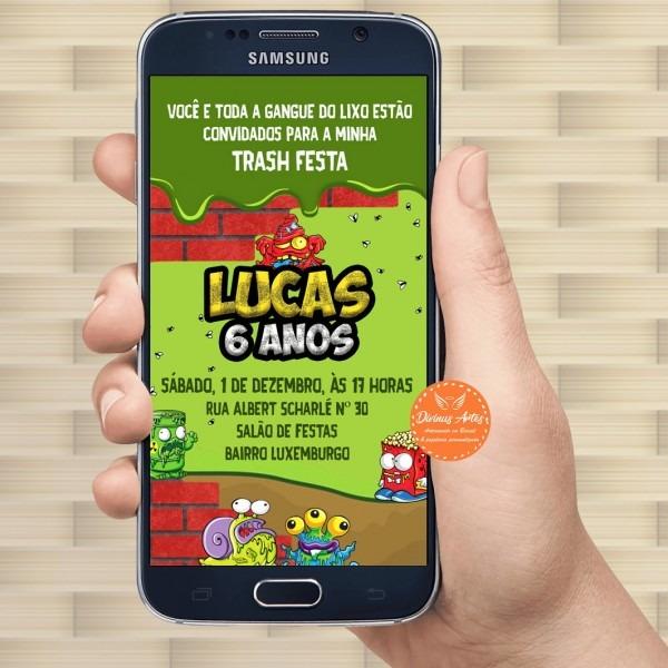 Convite virtual celular