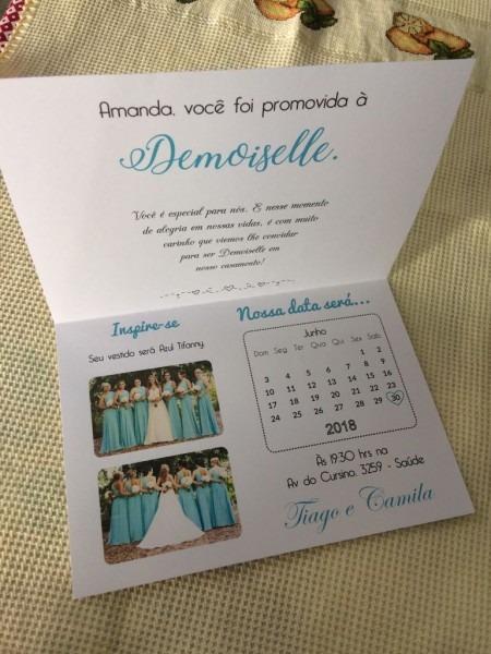 Convite para demoiselle no elo7