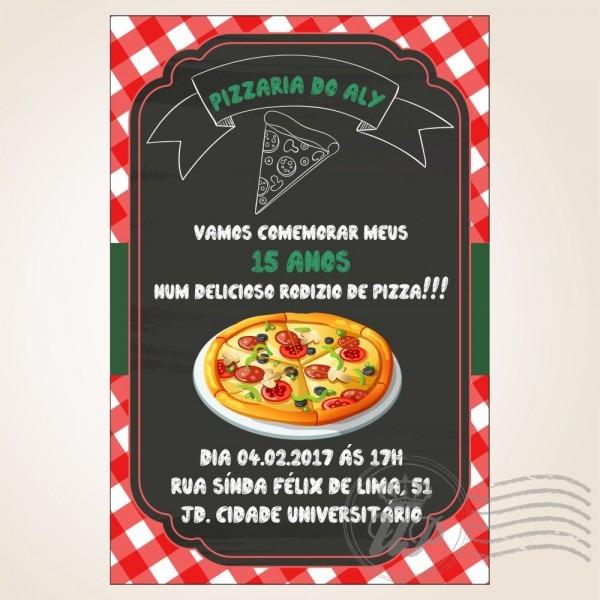 Convites impressos pizza