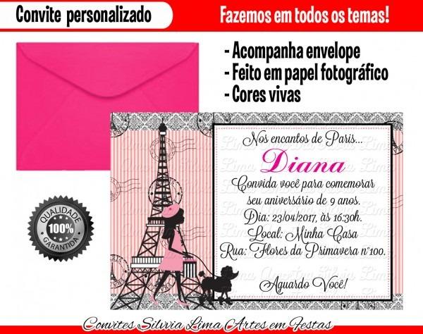Convite paris no elo7