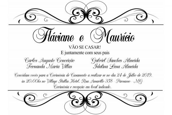 Convite personalizado casamento 10x15