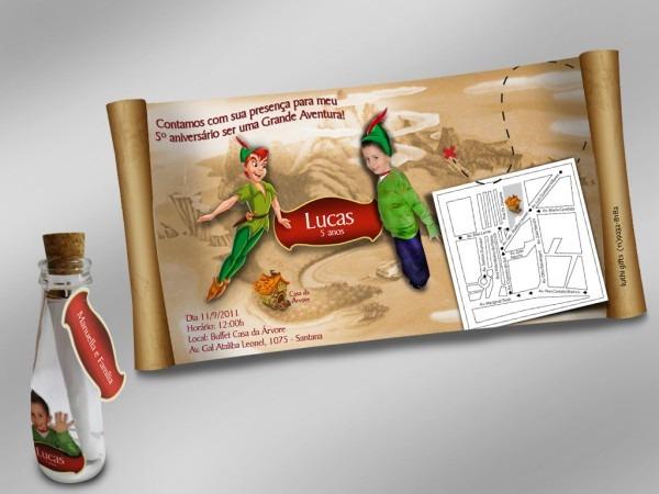 Luthi gifts  convite peter pan aberto